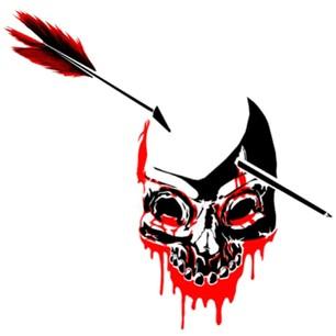 zombie head with arrow